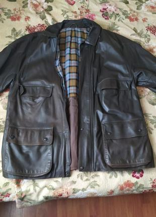 Кожаная куртка мужская телячья кожа 54 56