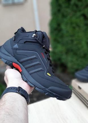 Мужские зимние кроссовки ❄️adidas climawarm 350❄️ чёрные с серым