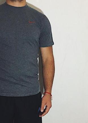 Мужская футболка nike ad ( найк лрр идеал оригинал серо-красная)