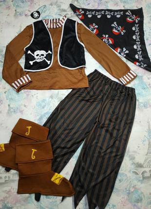 Карнавальный костюм пирата,пират, разбойник на 8-9 лет