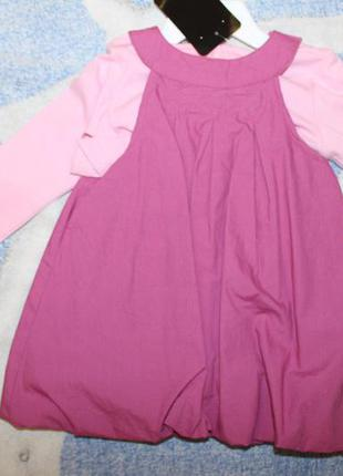 Детский набор платье с кофточкой baby club на девочку от 4м до...