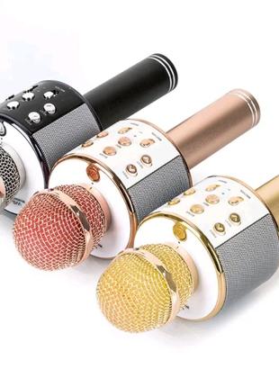Беспроводной караоке-микрофон со встроенной колонкой