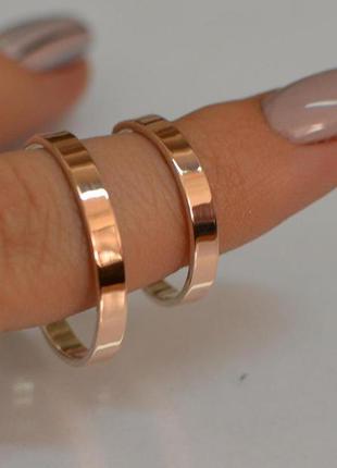 Кольцо  серебро 925 с золотом обручальное обр1
