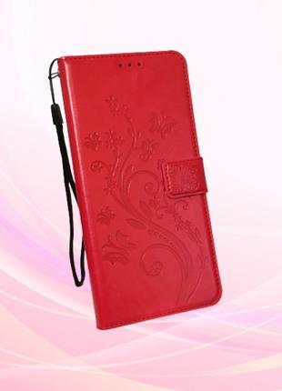 Чехол-книжка для ZTE Blade 20 smart кожаный красный