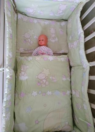 Детский текстиль в кроватку # защита в кроватку # детское пост...