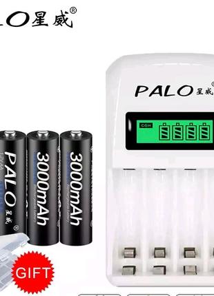 Комплект зарядное устройство PАLO PL-NCO1 + 4 аккумулятора АА