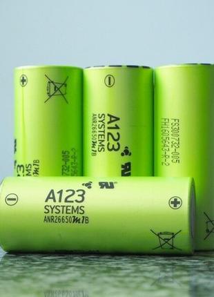 Нанофосфатная батарея A123 LiFePO4 ANR26650M1B / 3.3В-2.5А * ч