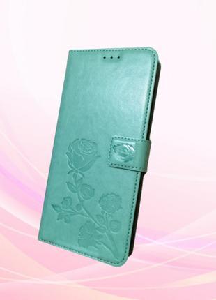 Чехол-книжка для ZTE Blade 20 smart кожаный голубой
