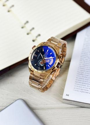 Мужские наручные часы Tag Heuer Calibre 36. Кварцевый хронограф.
