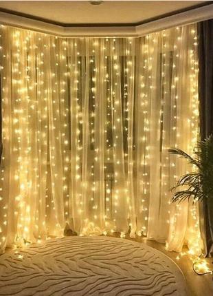 Новогодняя гирлянда-штора! Идеальный подарок и прекрасное украшен