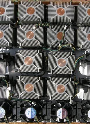 Кулер (радиатор + вентилятор) для фито светодиода до 100W