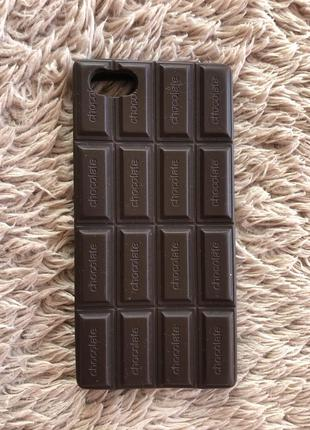 Чехол на айфон 5s 5 iphone case шоколад шоколадка коричневый с...
