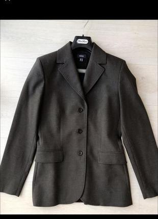 Темно коричневый серый пиджак mexx тренд