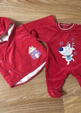 Новогодний  костюм на малыша 0-3 месяца