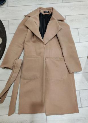 Пальто-халат, светлый беж