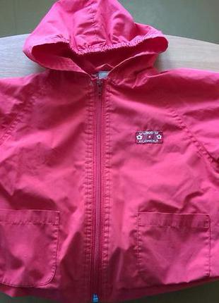 Ветровка (курточка) утепленная красная 98 см.