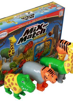 Пазл 3D детский магнитные животные POPULAR Playthings Mix or Matc