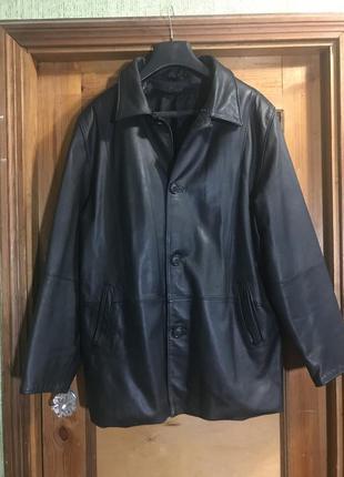 Чоловіча куртка 100% натуральна шкіра, 56 розмір, стан ідеальний