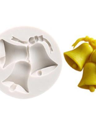 "Молд новогодний ""Колокоьчик"" - диаметр молда 7,5см, силикон"
