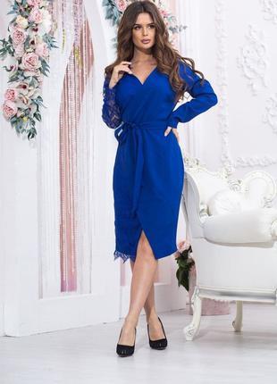Женское стильное вечернее платье.