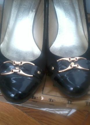 Комбинированные туфельки натуральная кожа, замш (польша)