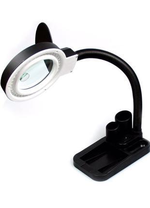 Настольная светодиодная лампа-лупа с увеличительным стеклом/ли...