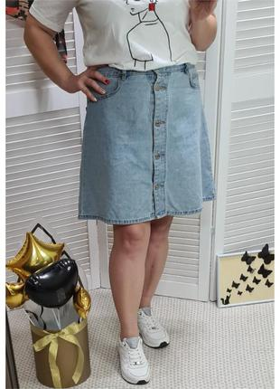 Джинсовая юбка на пуговицах noisy may