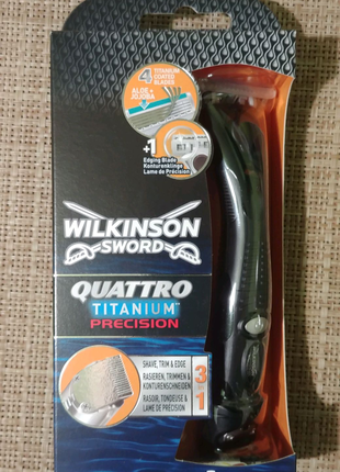 Станок триммер Wilkinson sword Quattro titanium precision