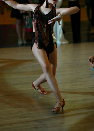 Бальное платье Латина 146-152.