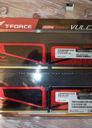 Оперативна пам'ять Team DDR4 16GB (2x8GB) 3000Mhz T-Force Vulcan