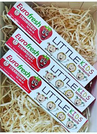 Детская зубная паста от 3-х лет Клубника Farmasi Eurofresh Little
