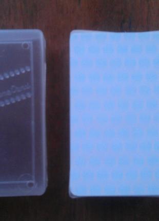 Блок бумаги для визиток в пластиковом боксе