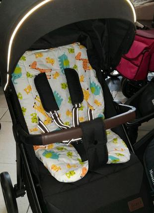 Матрасик в коляску детский разные цвета