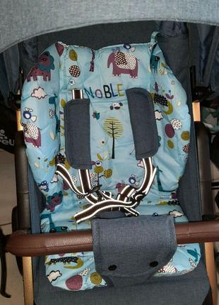 Матрасик в коляску детский разные цвета Материал хлопок/ плащевка