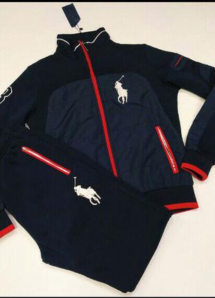 Теплый мужской спортивный костюм Polo Ralph Lauren