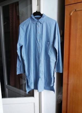 Длинная  рубашка / платье zara