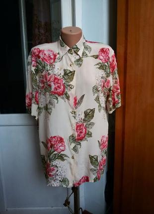 Роскошная шелковая рубашка в цветочный принт vittoria ventura ...