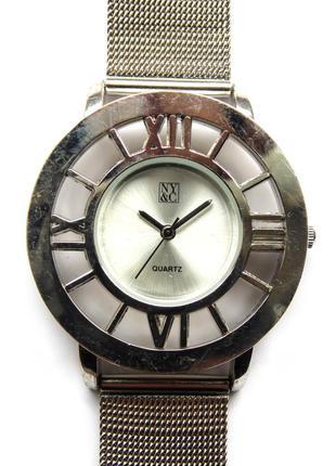 New york & company часы из сша прозрачный рант и стальной браслет