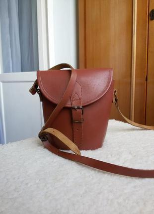 Оригинальная кожаная сумка кросс боди  100% кожа индия