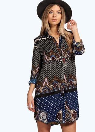 Трендовое платье рубашка boohoo