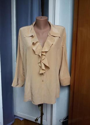 Шелковая блуза canda 100% шелк