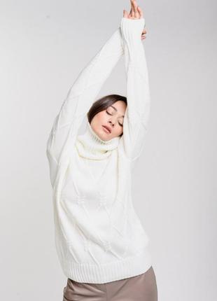 Вязаный свободный свитер вязаная кофта