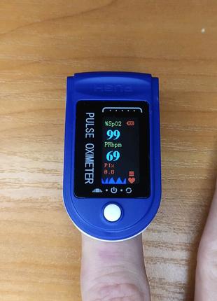 Пульсометр оксиметр на палец (пульсоксиметр) JN OX-831 OLED Blue