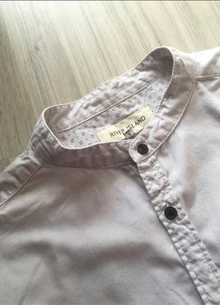 Сорочка рубашка без воротника S