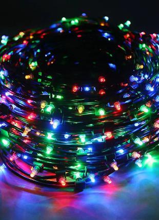 Гирлянда светодиодная LED 500 мультик черная