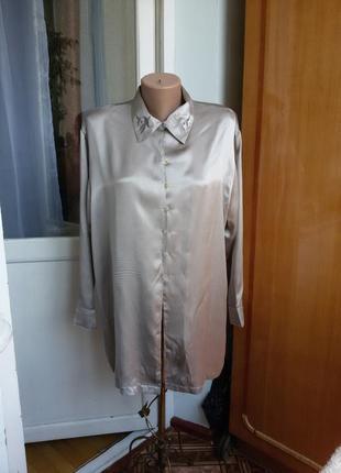 Роскошная шелковая блуза fabiani 100% шелк