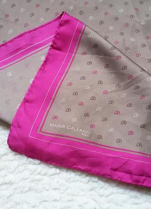 Шелковый платок maria galland 100% шелк 65*66
