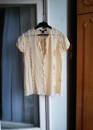 Шелковая блуза dkny 100% шелк