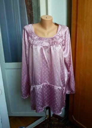 Шелковая блуза / туника tcm 100% натуральный шелк