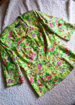 Эксклюзивный шелковый пиджак в цветочный принт sporting dress ...